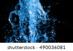 abstract water background blue... | Shutterstock . vector #490036081