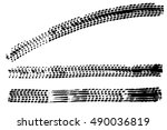 black tire marks pattern...   Shutterstock . vector #490036819