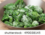 Frozen Spinach. Defrosting....