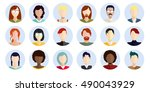icons with women of different... | Shutterstock .eps vector #490043929