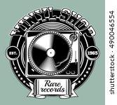 Musical Vinyl Shop Emblem