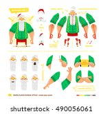 vector illustration santa claus ... | Shutterstock .eps vector #490056061