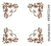 vintage baroque element... | Shutterstock .eps vector #490072144