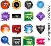 shopping cart | Shutterstock .eps vector #49007800