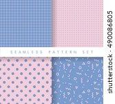 minimalist modern seamless... | Shutterstock .eps vector #490086805