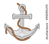 anchor. vector illustration... | Shutterstock .eps vector #490090195