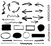 collection of arrows and design ... | Shutterstock .eps vector #490092439