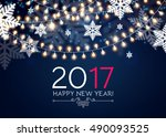elegant new 2017 year... | Shutterstock .eps vector #490093525