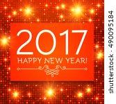 happy new 2017 year. seasons... | Shutterstock .eps vector #490095184