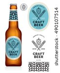 craft beer label and neck label ... | Shutterstock .eps vector #490107514