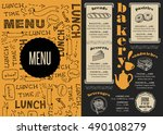 bakery coffee menu placemat... | Shutterstock .eps vector #490108279