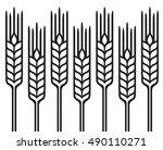 field of wheat  barley or rye...   Shutterstock .eps vector #490110271