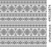 ethnic seamless monochrome...   Shutterstock .eps vector #490110874