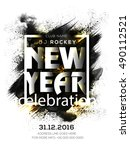 31st december 2016  new year's... | Shutterstock .eps vector #490112521