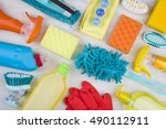 collection of various colorful... | Shutterstock . vector #490112911