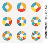 circular diagram set. pie chart ... | Shutterstock .eps vector #490114561
