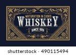 vintage logo template  business ... | Shutterstock .eps vector #490115494