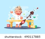 young chemist characters | Shutterstock .eps vector #490117885