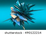 abstract background 3d... | Shutterstock . vector #490122214