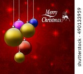 christmas background with... | Shutterstock .eps vector #490133959