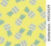 pineapple   vector illustration   Shutterstock .eps vector #490134199