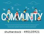 community concept illustration... | Shutterstock .eps vector #490135921