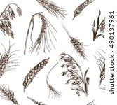 vector illustration sketch  ... | Shutterstock .eps vector #490137961