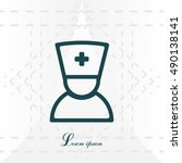 doctor icon | Shutterstock .eps vector #490138141