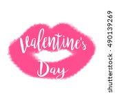 happy valentine's day vector... | Shutterstock .eps vector #490139269