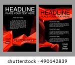 abstract vector flyer design ... | Shutterstock .eps vector #490142839