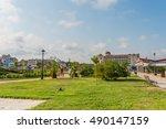 obzor  bulgaria   aug 07  2016  ... | Shutterstock . vector #490147159