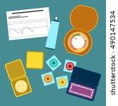 contraception methods vector... | Shutterstock .eps vector #490147534
