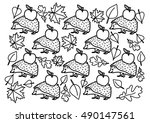 coloring page   autumn | Shutterstock .eps vector #490147561
