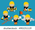 vector illustration   cartoon... | Shutterstock .eps vector #490151119