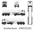 tanker truck vector mock up for ... | Shutterstock .eps vector #490151221