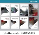 vector design for cover annual... | Shutterstock .eps vector #490154449