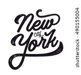 new york city. ny logo isolated....   Shutterstock .eps vector #490155004