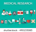 flat health care and medical... | Shutterstock .eps vector #490155085