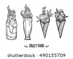 hand drawn vector illustration  ... | Shutterstock .eps vector #490155709