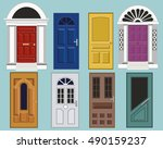 set of detailed colorful front... | Shutterstock .eps vector #490159237