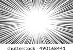 comic speed radial line... | Shutterstock .eps vector #490168441