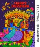 illustration of lord ram  sita  ... | Shutterstock .eps vector #490171465