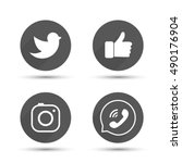 flat designed vector icons of...