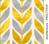 simple shapes seamless pattern... | Shutterstock . vector #490177519