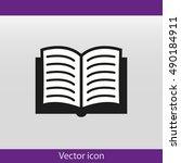 book vector icon | Shutterstock .eps vector #490184911