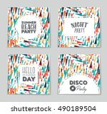 abstract vector layout... | Shutterstock .eps vector #490189504