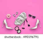 fashion design outfit.... | Shutterstock . vector #490196791