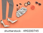 fashion design outfit.... | Shutterstock . vector #490200745
