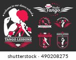 set logo of dancing couple....