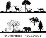 horizontal vector set of... | Shutterstock .eps vector #490214071